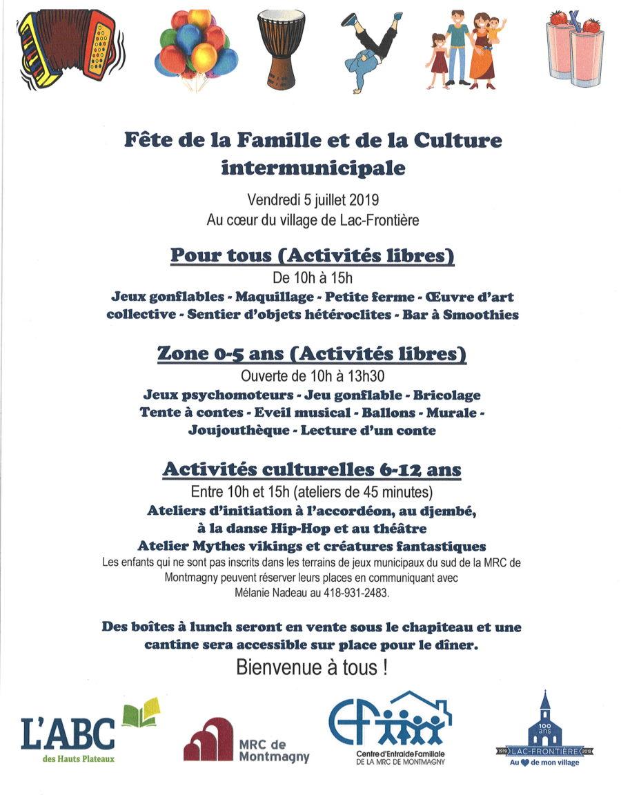 Fête de la Famille et de la culture intermunicipale