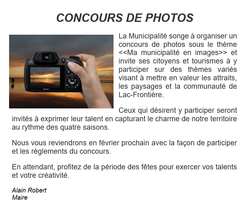 CONCOURS DE PHOTOS