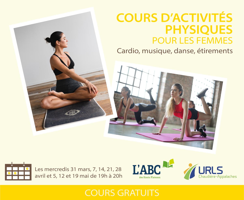 Cours d'activités physiques pour femmes – gratuits